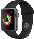 Купить Apple Watch Series 3 38mm Space Gray Aluminum Case, Black Sport Band в Перми