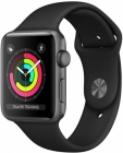 Купить Apple Watch Series 3 42mm Space Gray Aluminum Case, Black Sport Band в Перми